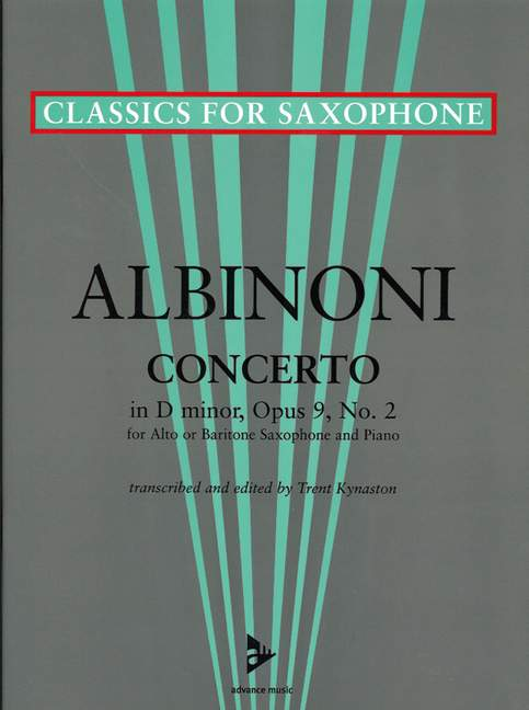 Concerto in D Minor op Tomaso score and part saxophone A//Bar 9//2 Albinoni an